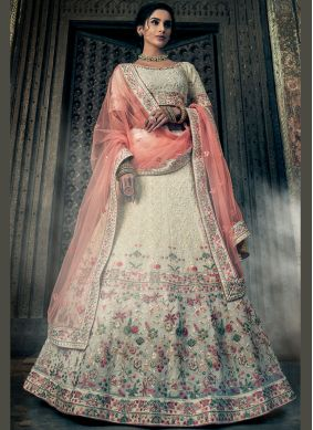 Haute Thread Georgette A Line Lehenga Choli