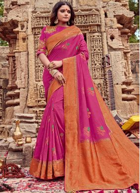 Honourable Embroidered Ceremonial Trendy Saree