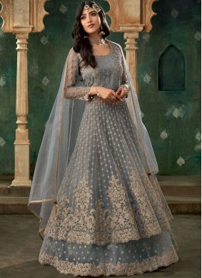Honourable Grey Embroidered Lehenga Choli