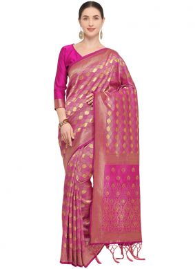 Hot Pink Party Traditional Designer Saree
