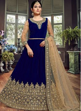 Hypnotic Velvet Festival Floor Length Anarkali Suit