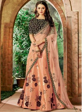 Hypnotizing Art Silk Embroidered Lehenga Choli