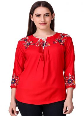 Ideal Red Casual Kurti