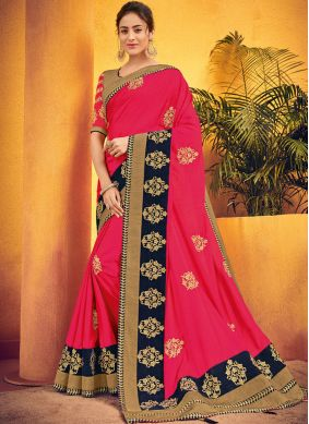 Immaculate Hot Pink Traditional Saree