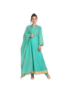 Immaculate Machine Embroidery  Viscose Party Wear Kurti