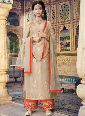 Impeccable Embroidered Designer Palazzo Suit