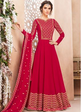 Impeccable Georgette Sangeet Anarkali Salwar Suit