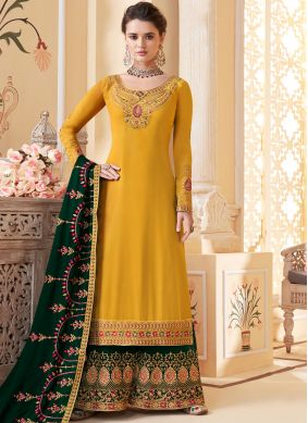Imperial Georgette Embroidered Designer Palazzo Salwar Suit