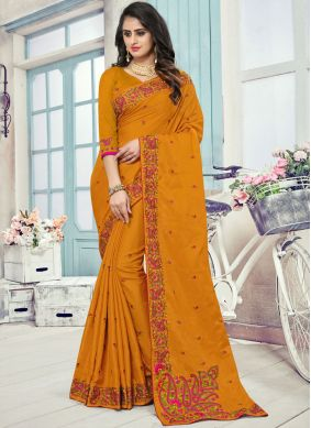 Imperial Patch Border Art Silk Designer Traditional Saree