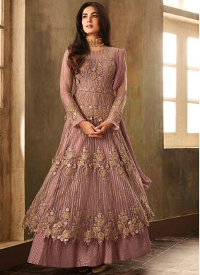 Impressive Net Embroidered Anarkali Salwar Kameez