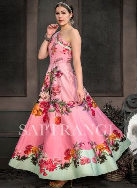 Incredible Multi Colour Designer Gown
