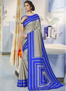 Innovative Art Silk Grey Traditional Saree