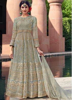 Innovative Embroidered Net Trendy Gown