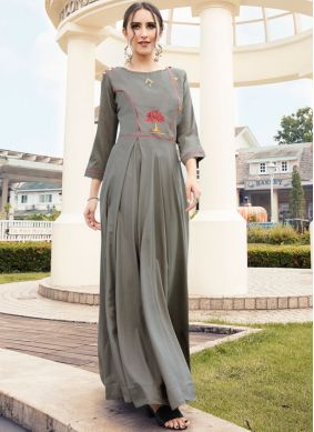 Innovative Embroidered Party Wear Kurti