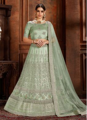 Intricate Green Reception Designer Lehenga Choli