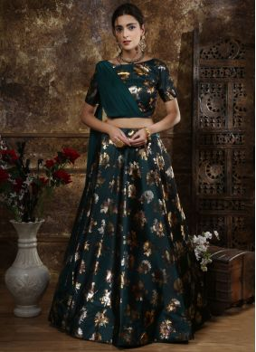 Intriguing Green Foil print Lehenga Choli