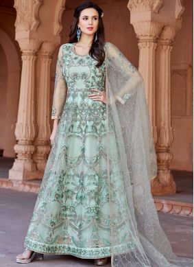Intrinsic Embroidered Net Floor Length Anarkali Suit