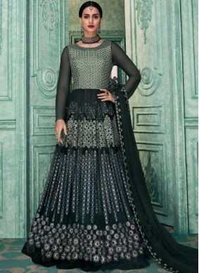 Intrinsic Grey Festival Floor Length Anarkali Suit