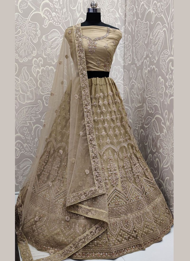 Intrinsic Net Reception Trendy A Line Lehenga Choli