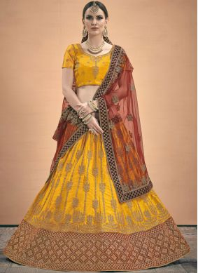 Intrinsic Satin Stone Work A Line Lehenga Choli