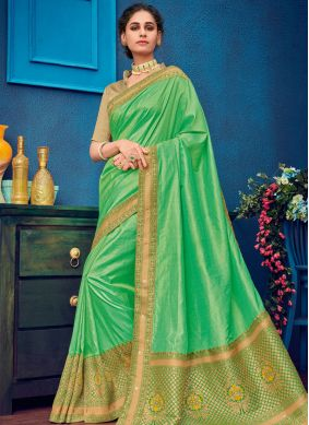 Invaluable Art Silk Embroidered Designer Traditional Saree