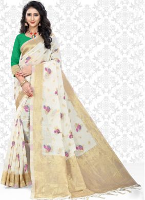 Invaluable Print Festival Classic Designer Saree