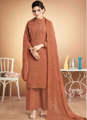 Invigorating Embroidered Ceremonial Designer Palazzo Suit