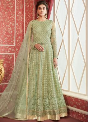 Invigorating Sea Green Reception Trendy Lehenga Choli