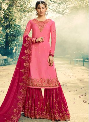 Irresistible Faux Georgette Reception Palazzo Salwar Kameez