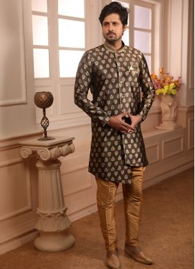 Jacquard Indo Western in Brown