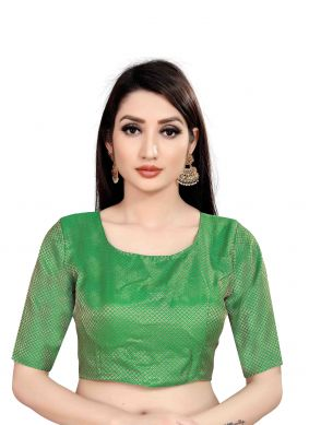 Jacquard Printed Blouse in Green