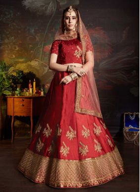 Jazzy Embroidered Wedding Lehenga Choli