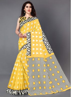 Khadi Silk Classic Saree in Yellow