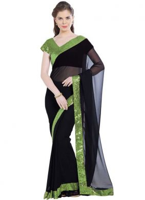 Lace Black Casual Saree