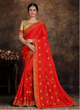 Lace Poly Silk Classic Designer Saree