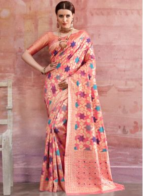 Latest Cotton Pink Casual Saree