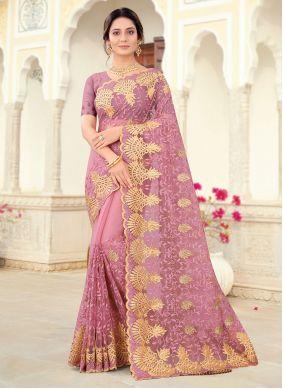 Lavender Color Designer Saree