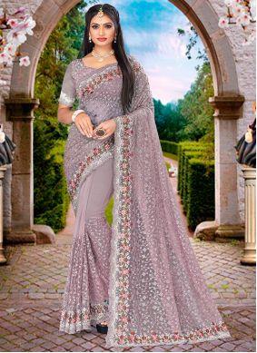 Lavender Sangeet Designer Saree