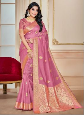 Lavender Woven Traditional Saree
