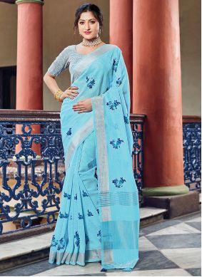 Linen Engagement Classic Saree