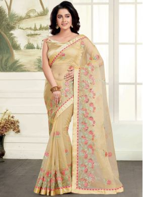 Lively Embroidered Organza Classic Saree