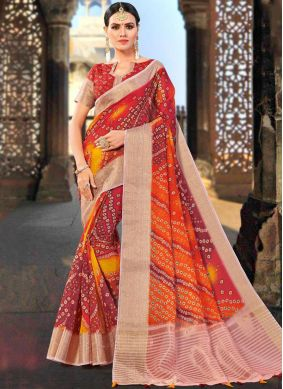 Lively Weaving Shaded Saree