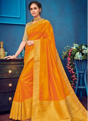 Lovable Art Silk Yellow Designer Traditional Saree