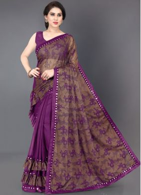 Lycra Mirror Traditional Saree