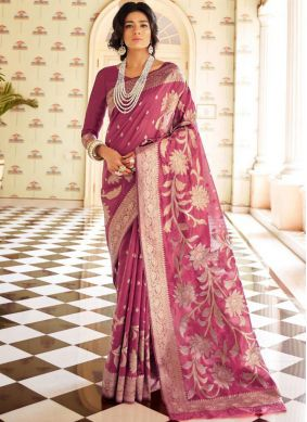 Magenta Color Traditional Saree