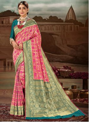 Magenta Weaving Traditional Designer Saree