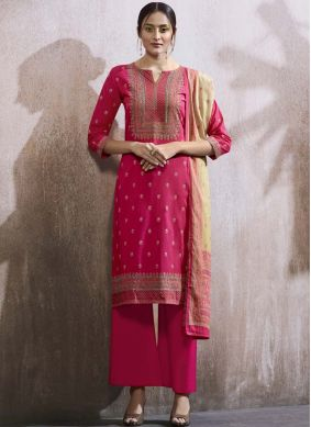 Magnetic Hot Pink Designer Palazzo Suit