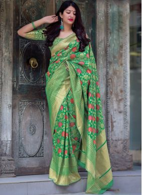 Magnificent Art Silk Green Traditional Saree