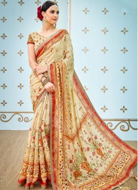 Magnificent Art Silk Multi Colour Traditional Designer Saree