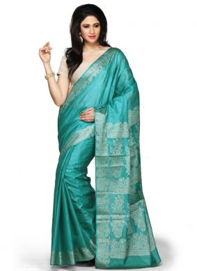 Magnificent Grey Art Banarasi Silk Designer Traditional Saree